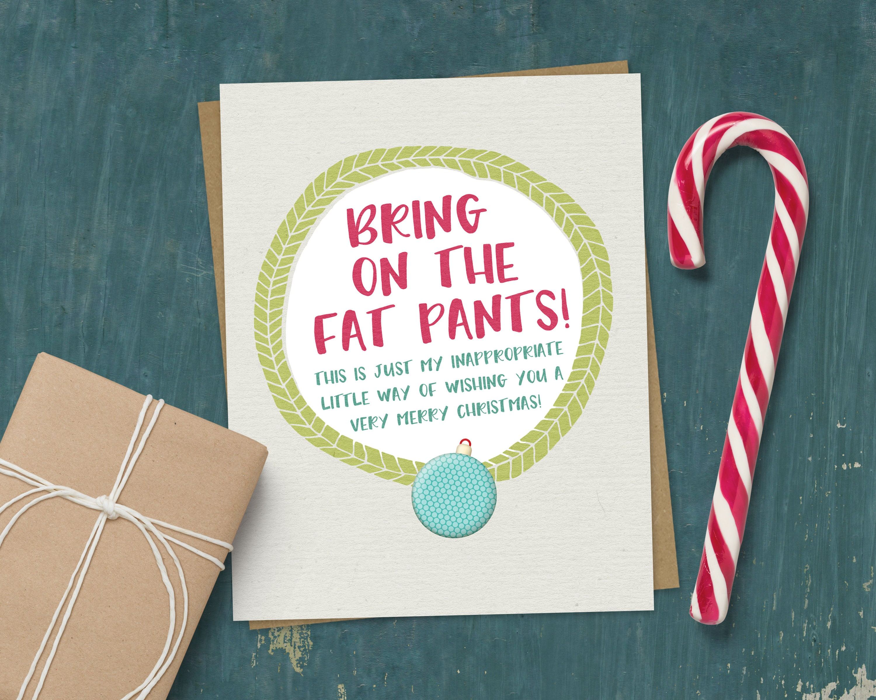 Funny Christmas Card Inappropriate Christmas Card Fat | Etsy