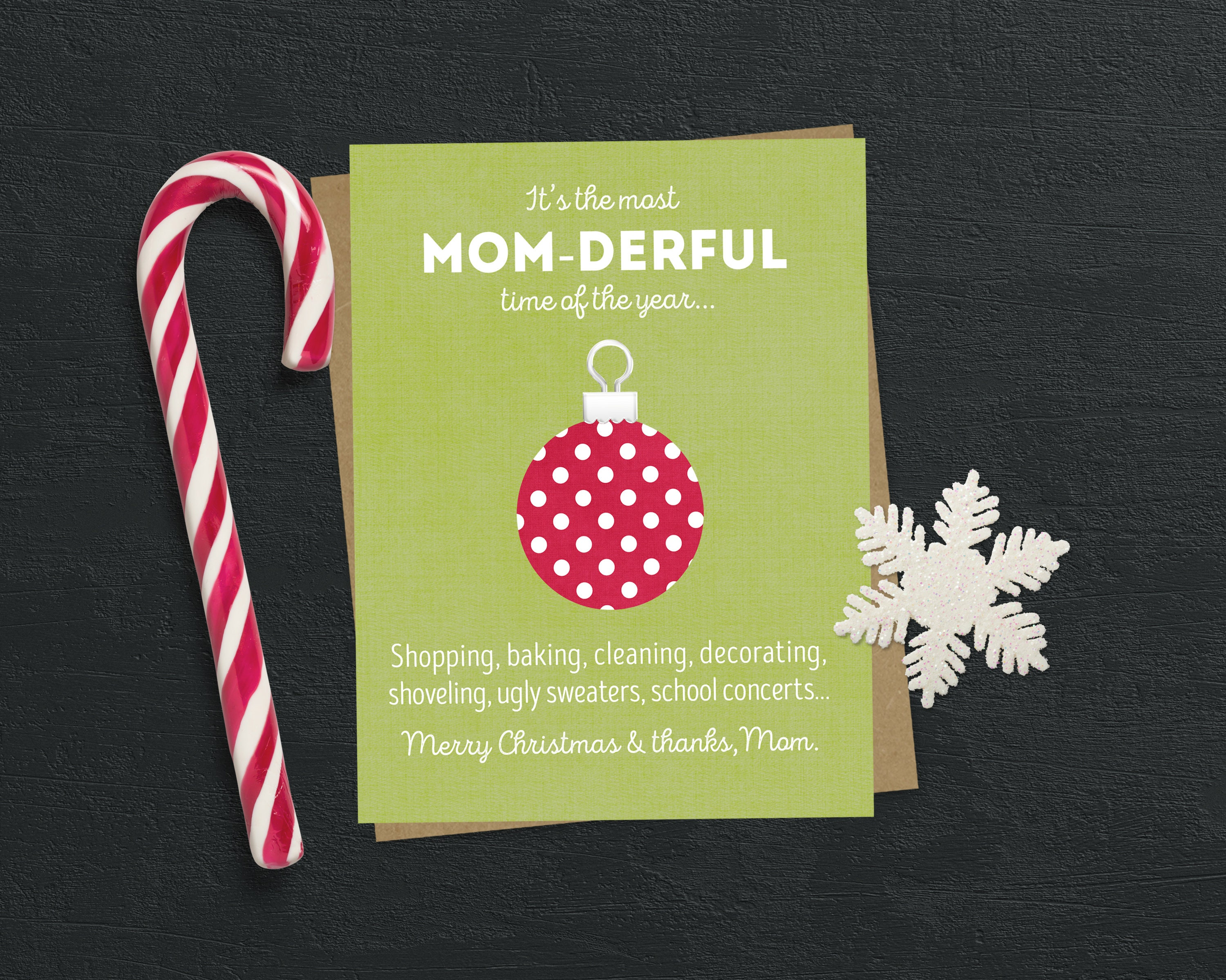 Funny Christmas Card For Mom Mom Christmas Card Mother Etsy
