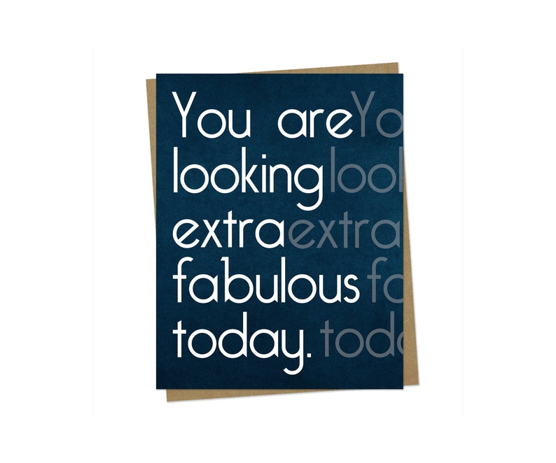 Just Because Card Girlfriend Birthday Card Thinking of You Card Fabulous Card