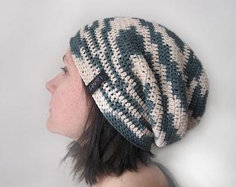 crochet hat, men's or women's, beanie hat, Crochet Slouchy Beanie hat
