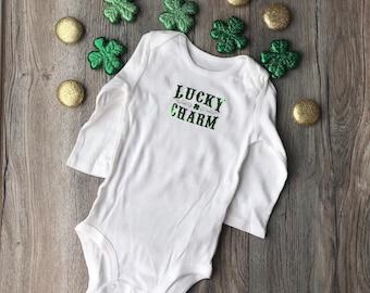 Lucky Charm onesie // St. Patrick's Day onesie // pinch proof // baby onesie // unisex onesie // Irish onesie // Lucky Charm baby