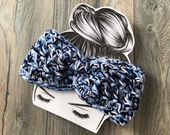 Tennessee Titans earwarmer headband, Dark blue, Light Blue, white