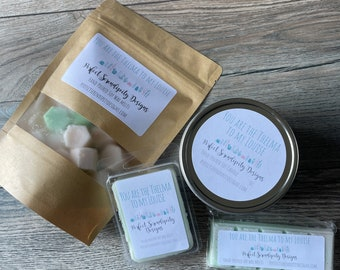 Baja Cactus blossom wax melts, You are the Thelma to my Louise Hand Poured wax melt, gift for her, housewarming gift