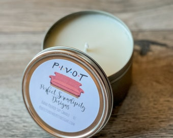 Lemon, Vanilla and Rosemary scented Candle, Pivot Candle,  The one with the couch, smells like fancy furniture