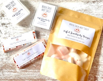 Fall scented wax melts, Strongly scented wax, Cranberry Pumpkin scent, Autumn Scents, Snap bars, clamshells, When Jack met Sally