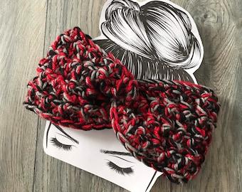 Tampa Bay Buccaneers headband earwarmer, black grey red