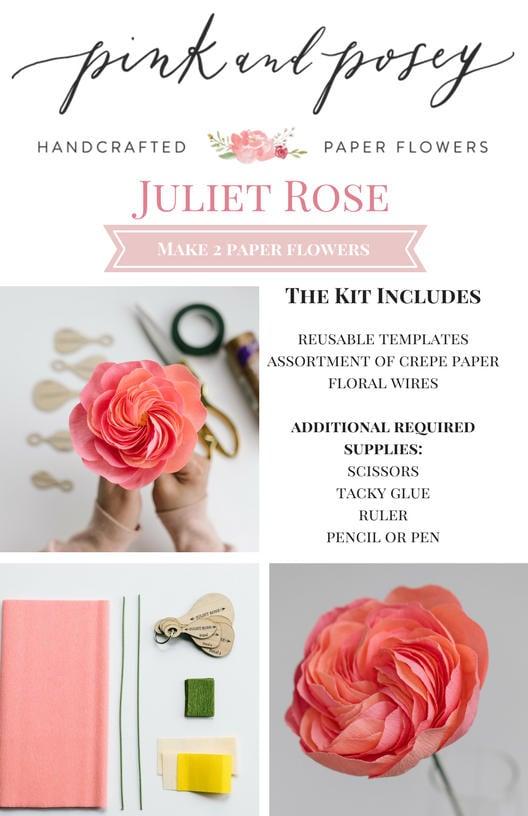 Paper Flower Kit: Juliet Rose | Etsy