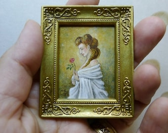 1/12 scale Miniature original art for dollhouse by Mollamari