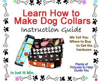 Dog Collar Sewing Pattern, DIY Dog Collar, Dog Collar Pattern PDF