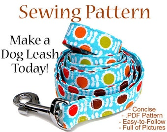 Custom Dog Leash, Dog Leash, Instant Download, Instructional Guide Teaching You How to Make Dog Leashes, Dog Sewing Pattern