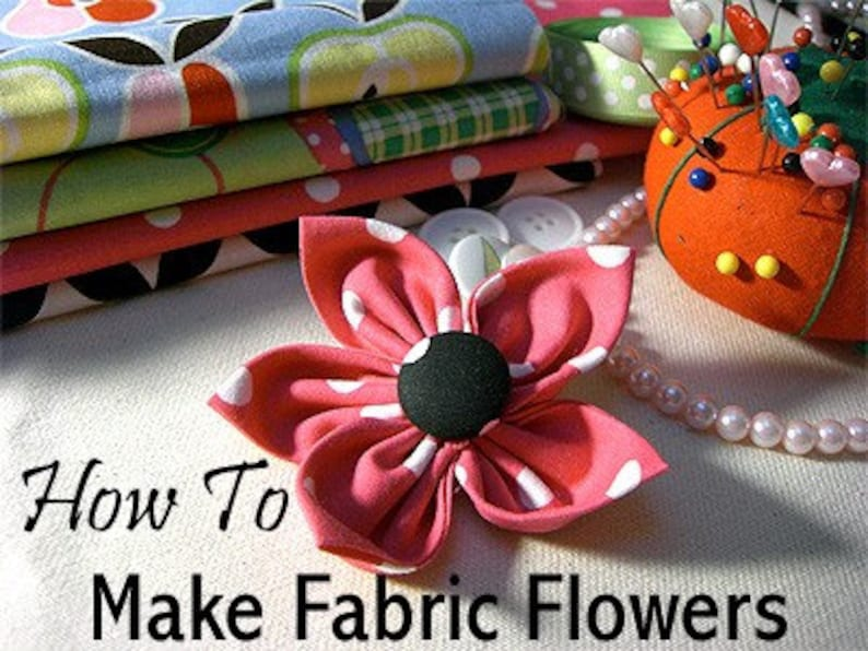 Make Fabric Flowers for Dog Collars Easy-to-Follow Illustrated Tutorial Dog Collar Add On Instant Download Collar Flower