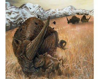 11ea62de LIMITED RUN PRINT hand-signed & numbered Elasmotherium 11x17