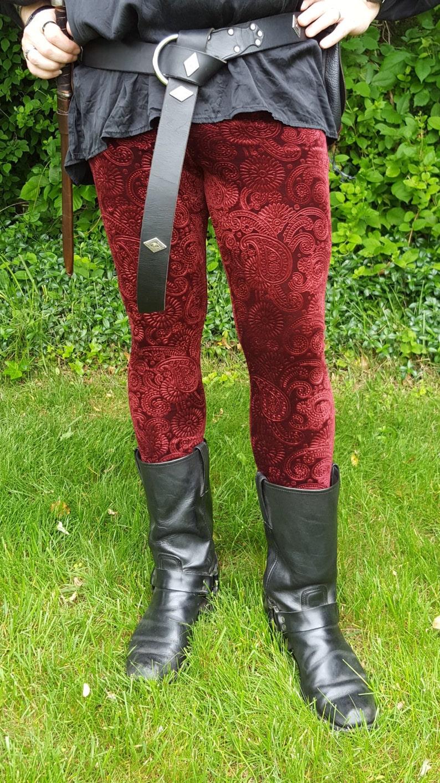 Men/'s Embossed Paisley Velvet Leggings pick your color pick your size