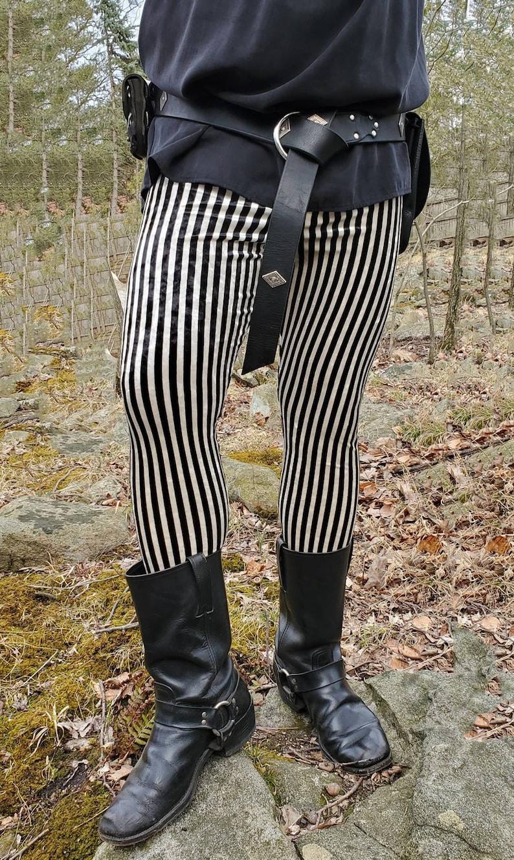Men's Steampunk Pants & Trousers     Mens Striped Velvet Leggings - pick your color/ pick your size $60.00 AT vintagedancer.com
