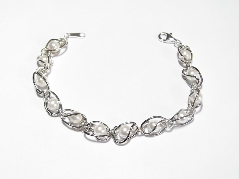 Woman Girl Bracelet Woven Braided Gift Mother Girlfriend in Silver Gold Plated
