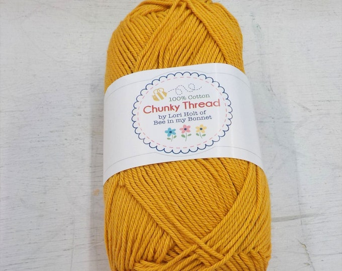 Chunky Thread by Lori Holt of Bee in my Bonnet...butterscotch, 50 grams, 140 yards, 128 meters
