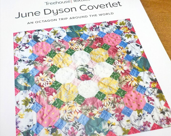 June Dyson Coverlet by Treehouse Textiles...pattern, acrylic templates, and paper pieces