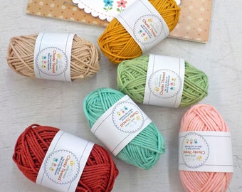 Chunky Thread by Lori Holt of Bee in my Bonnet...sampler pack #4, 6 skeins, 10 grams each
