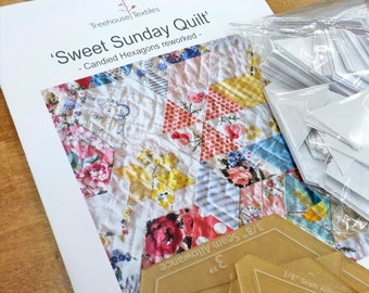 Sweet Sunday Quilt by Treehouse Textiles...pattern, acrylic templates, and paper pieces