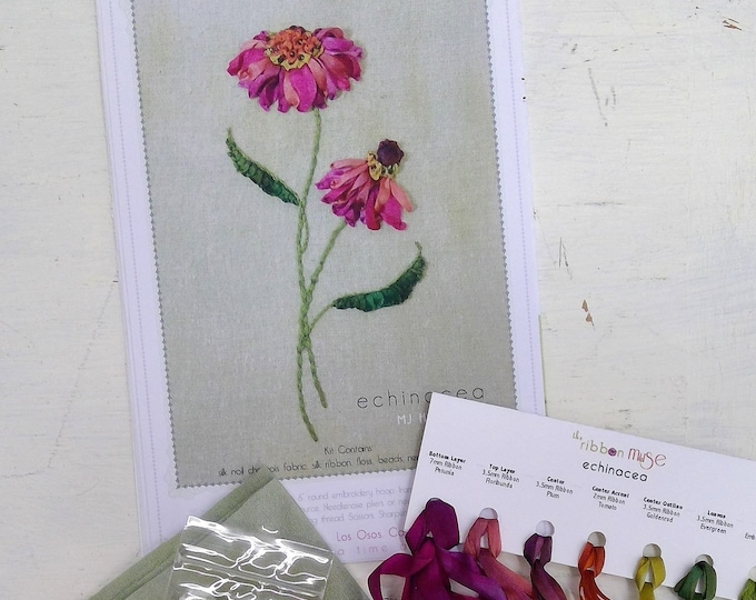 Echinacea by MJ Hiney...the Ribbon Muse...complete kit with instructions