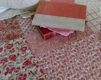 Spring Romance in shades of red quilt kit...designed by Mickey Zimmer for Sweetwater Cotton Shoppe