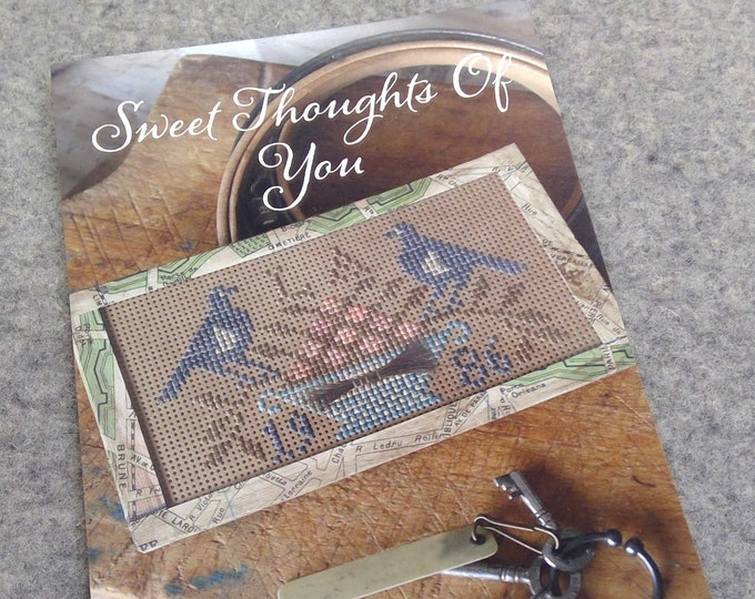 Sweet Thoughts of You by Blackbird Designs...cross stitch pattern, cross stitch