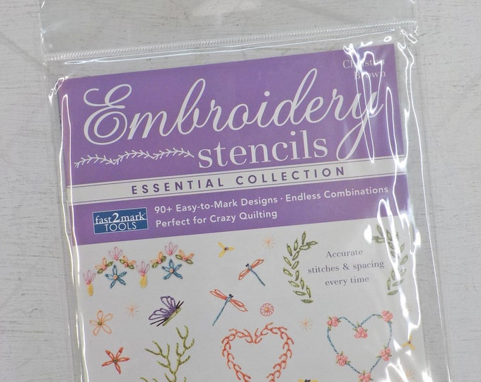 Embroidery Stencils Essential Collection, 90+ Easy-to-Mark Designs, by Christen Brown