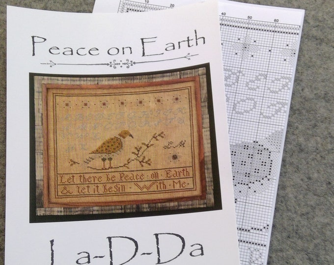 Peace on Earth by La-D-Da...cross stitch pattern, Christmas cross stitch