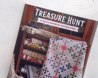 Treasure Hunt, 13 Quilts Inspired by Antique Finds by Linda Collins and Leah Zieber...quilt book, quilt pattern book