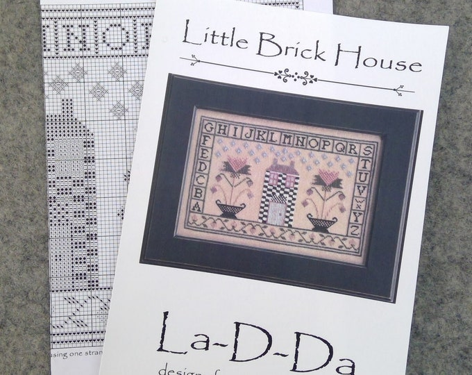 Little Brick House by La-D-Da...cross stitch pattern