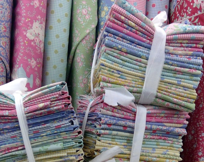 Featured listing image: Happy Campers fat quarter bundle...20--fat quarters...a Tilda Collection designed by Tone Finnanger