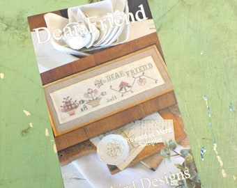 Dear Friend, Reward of Merit Sampler, by Blackbird Designs...cross stitch pattern, cross stitch