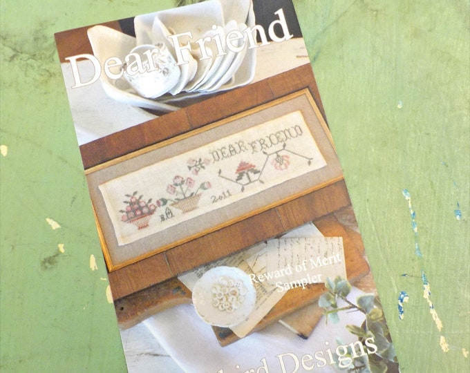 Dear Friend, Reward of Merit Sampler, by Blackbird Designs...cross stitch pattern, cross stitch