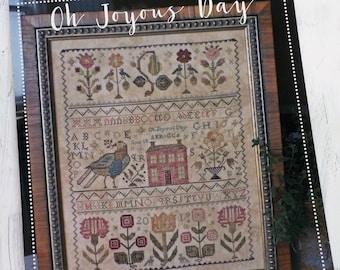 Oh Joyous Day by Blackbird Designs, cross stitch book