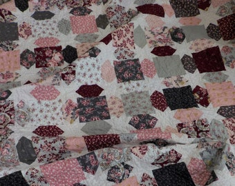 Summer Berry Trifle quilt kit...pattern designed by Mickey Zimmer for Sweetwater Cotton Shoppe, Exquisite by Gerri Robinson