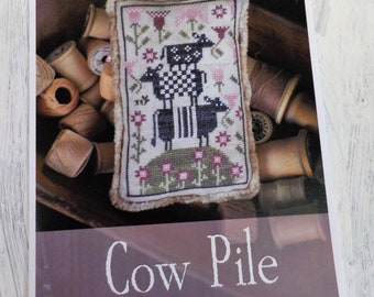 Cow Pile by Plum Street Samplers...cross stitch pattern, cow cross stitch
