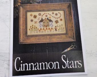 Cinnamon Stars by Plum Street Samplers...cross stitch pattern, Halloween cross stitch, autumn cross stitch