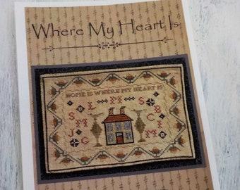 Where My Heart Is by La-D-Da...cross stitch pattern