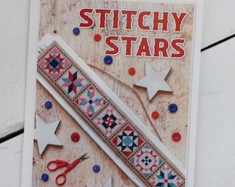 Stitchy Stars by Lori Holt of Bee in My Bonnet, cross stitch pattern, it's sew emma stitchery