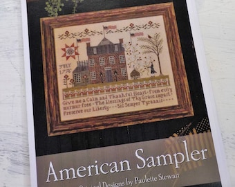 American Sampler by Plum Street Samplers...cross stitch pattern, house cross stitch