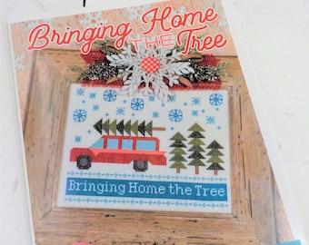 Bringing Home the Tree by Lori Holt of Bee in My Bonnet, cross stitch pattern, it's sew emma stitchery