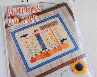 Pumpkins for Sale by Lori Holt of Bee in My Bonnet, cross stitch pattern, it's sew emma stitchery