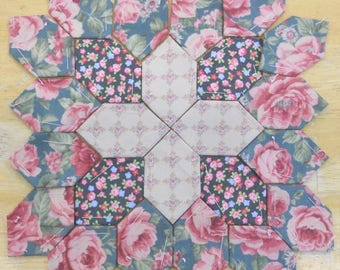 Lucy Boston Patchwork of the Crosses summer cottage block kit #12
