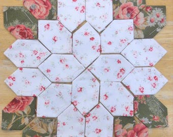 Lucy Boston Patchwork of the Crosses summer cottage block kit #11