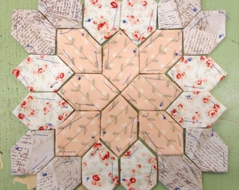 Lucy Boston Patchwork of the Crosses summer cottage block kit #16