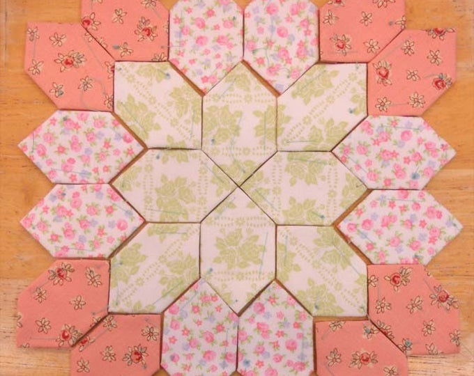 Lucy Boston Patchwork of the Crosses summer cottage block kit #15