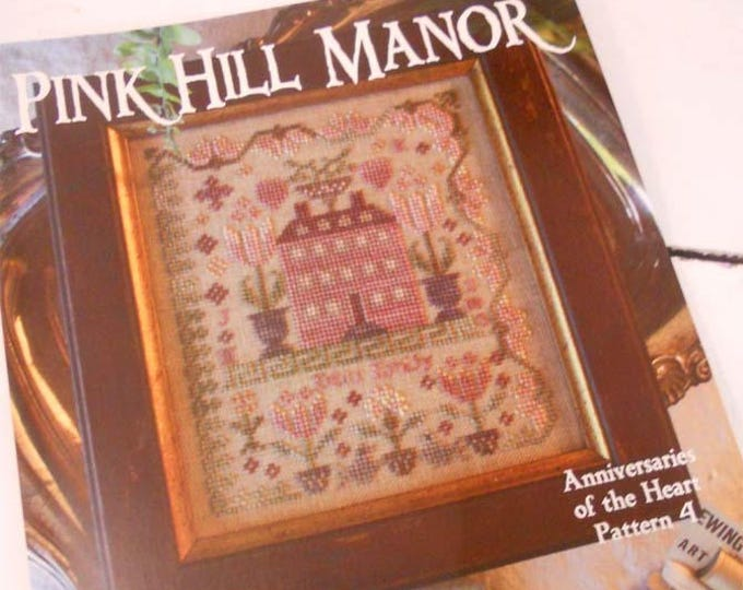Pink Hill Manor, Anniversaries of the Heart Pattern 4, by Blackbird Designs...cross-stitch design