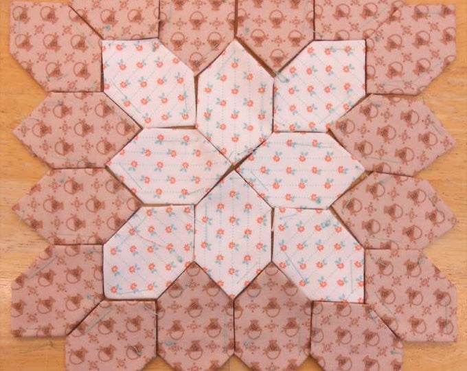 Lucy Boston Patchwork of the Crosses summer cottage block kit #14