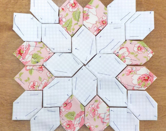 Lucy Boston Patchwork of the Crosses summer cottage block kit #47