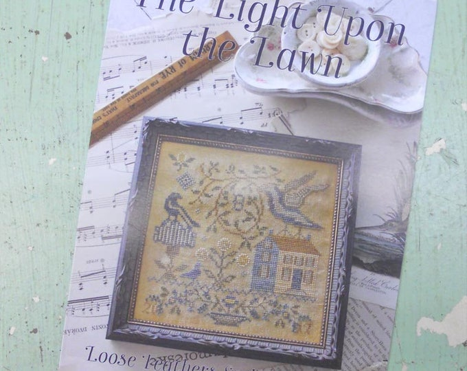 The Light Upon the Lawn, Loose Feathers Series For the Birds #2, by Blackbird Designs...cross-stitch design